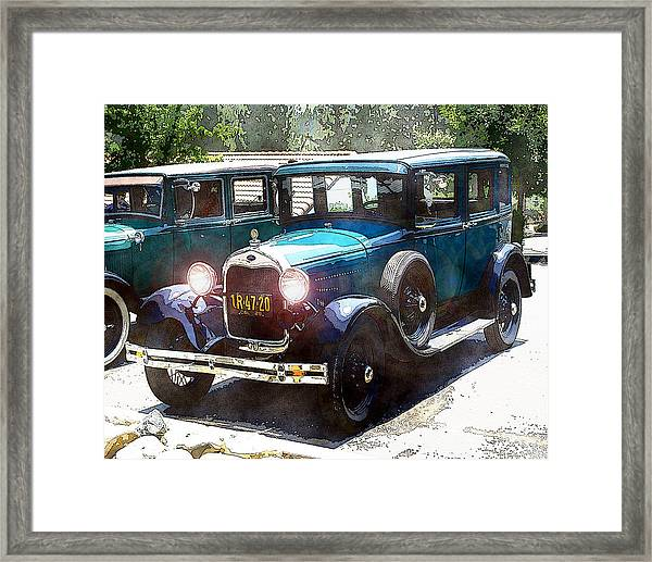 Framed Print featuring the photograph 1927 Ford Lights On by William Havle