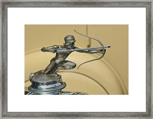 1928 Pierce Arrow Helmeted Archer Hood Ornament Framed Print