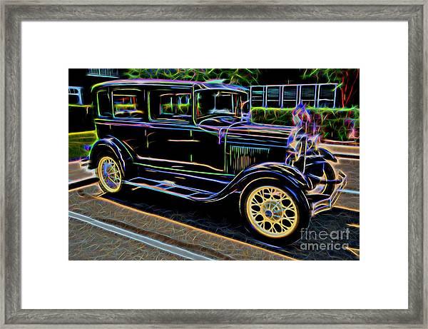 1929 Ford Model A - Antique Car Framed Print