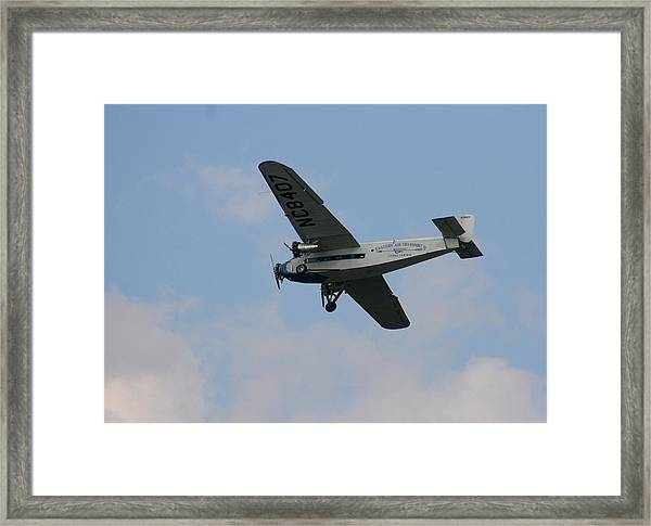 1929 Ford Tri Motor Mail Plane Side Framed Print