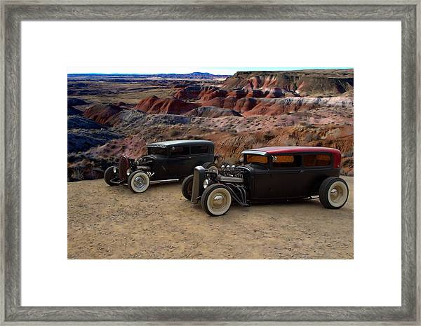 1930 And 1931 Ford Sedan Rat Rods Framed Print