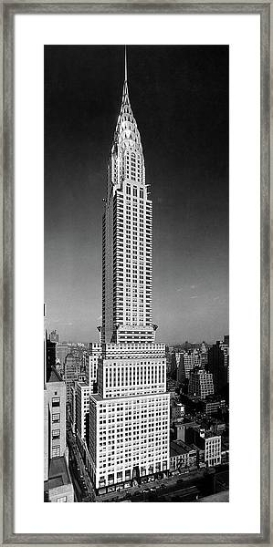 1930s 1940s Tall Narrow Vertical View Framed Print
