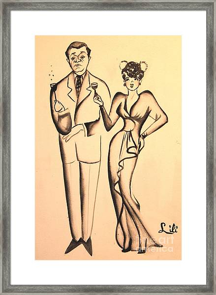 1930s Couple On The Town Framed Print