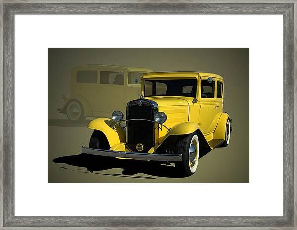 1931 Chevrolet Sedan Hot Rod Framed Print