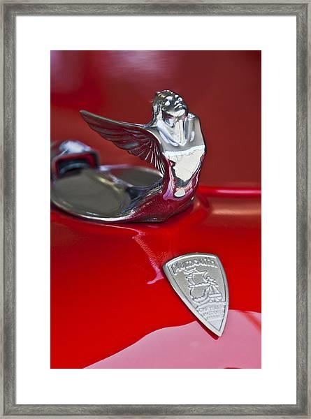 1933 Plymouth Hood Ornament Framed Print