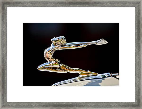 1934 Buick Goddess Hood Ornament Framed Print