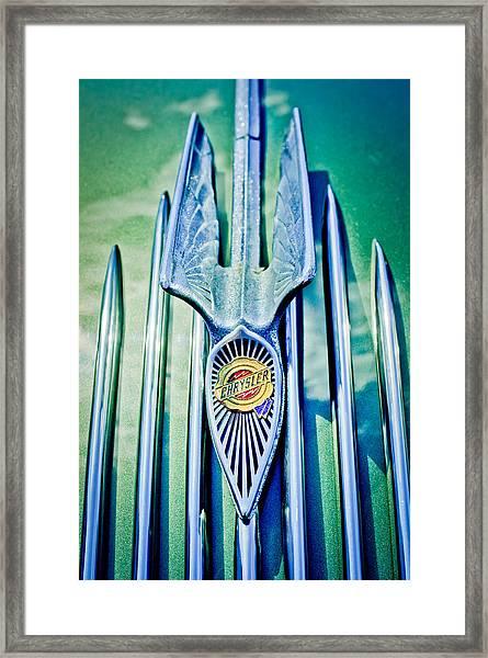 1934 Chrysler Airflow Hood Ornament 2 Framed Print