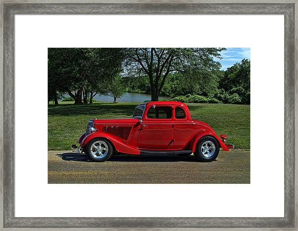 1934 Ford 5 Window Hot Rod Framed Print