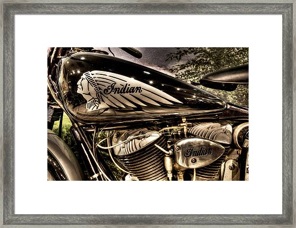 1934 Indian Chief Framed Print