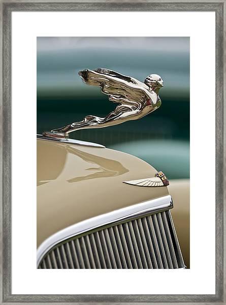 1935 Cadillac Convertible Hood Ornament Framed Print