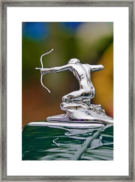 1935 Pierce-arrow 845 Coupe Hood Ornament Framed Print