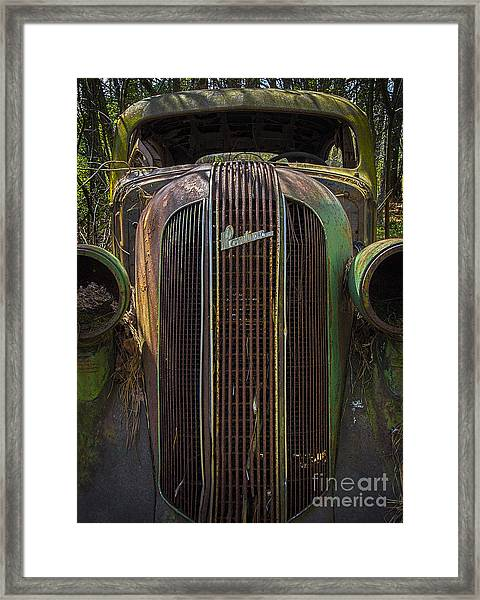 1936 Pontiac Head On Framed Print