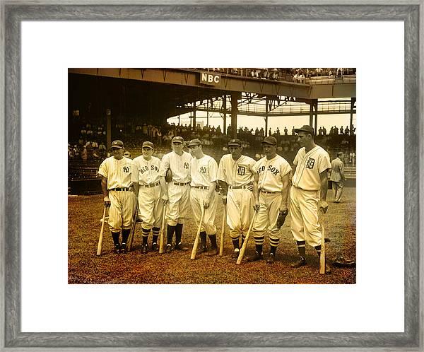 1937 All Stars Framed Print