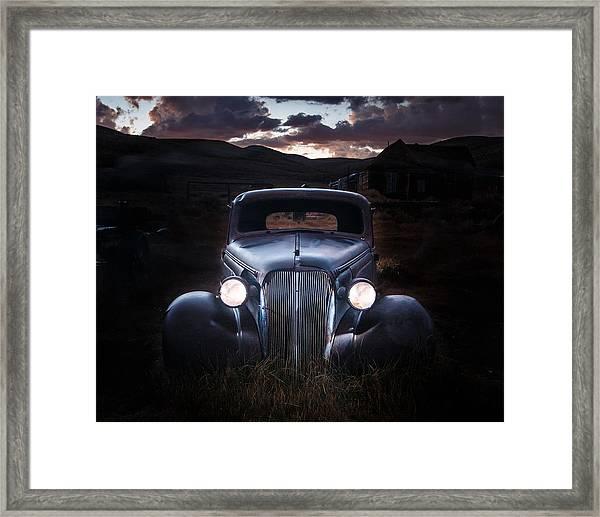 1937 Chevy At Dusk Framed Print