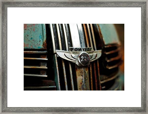 1937 Pontiac 224 Grill Emblem Framed Print