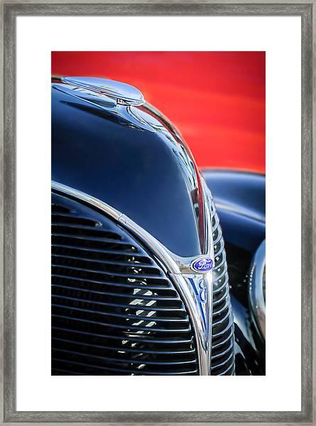 1938 Ford Hood Ornament - Grille Emblem -0089c Framed Print