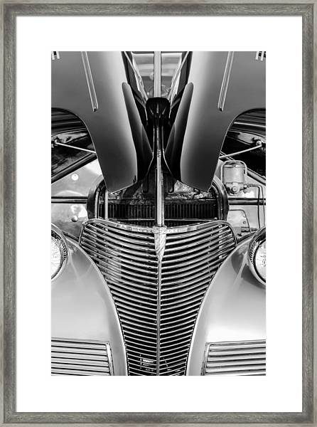 1939 Chevrolet Coupe Grille -115bw Framed Print