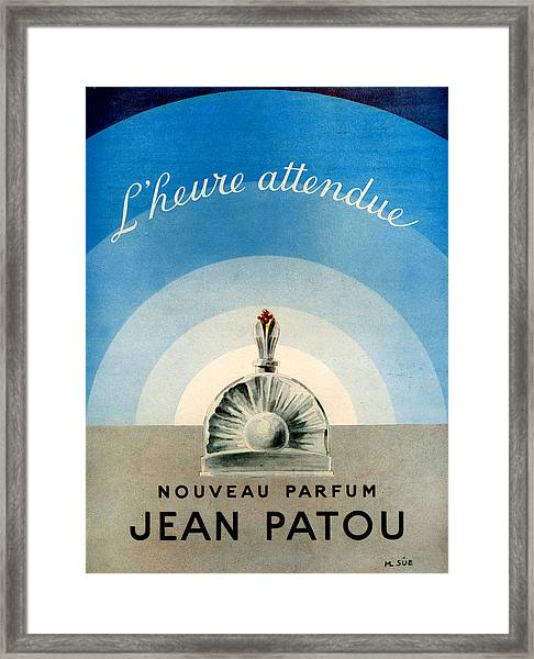 1940s Uk Jean Patou Magazine Advert Framed Print