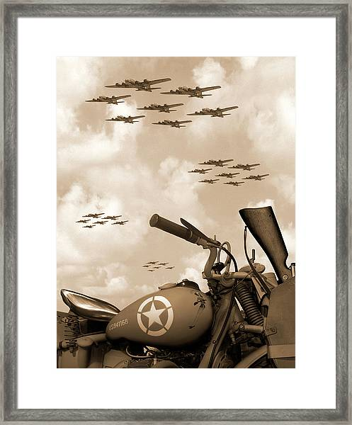 1942 Indian 841 - B-17 Flying Fortress' Framed Print