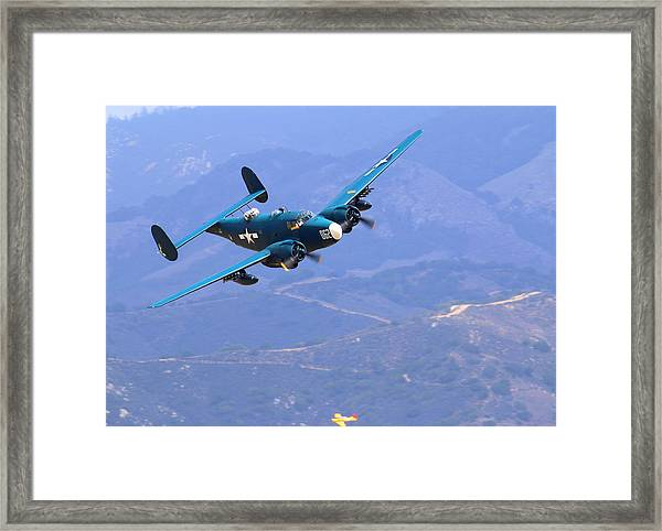 1944 Lockheed Pv-2 Harpoon Pays A Visit At The Salinas Air Show Framed Print by John King