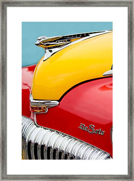 1946 Desoto Skyview Taxi Cab Hood Ornament Framed Print
