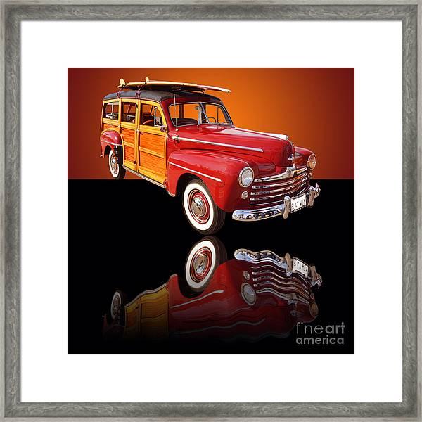 1947 Ford Woody Framed Print