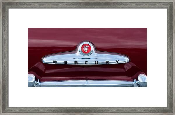 1949 Mercury Coupe Emblem Framed Print