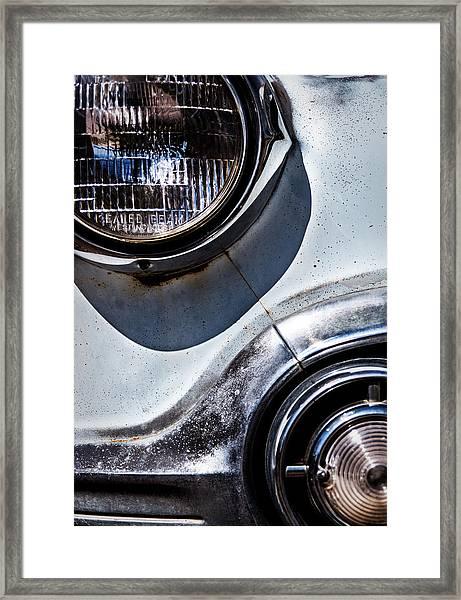 1953 Chevy Headlight Detail Framed Print