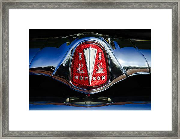 1953 Hudson Hornet Sedan Emblem Framed Print