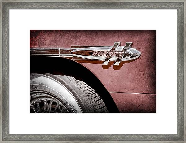 1953 Hudson Hornet Side Emblem Framed Print