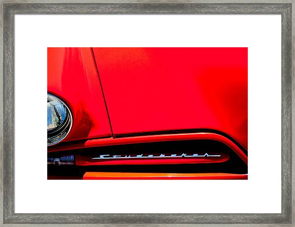 1953 Studebaker Coupe Grille Emblem Framed Print