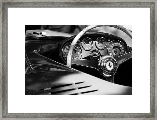 1954 Ferrari 500 Mondial Spyder Steering Wheel Emblem Framed Print
