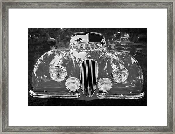 1954 Jaguar Xk 120 Se Ots Bw Framed Print