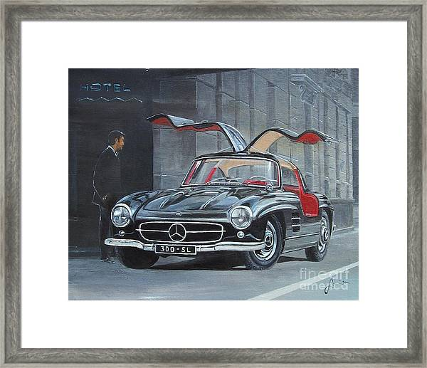 1954 Mercedes Benz 300 Sl Gullwing Framed Print