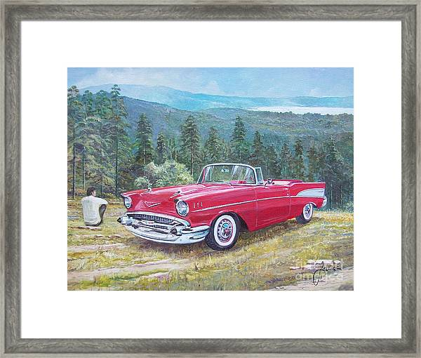 1955-1957 Chevrolet Bel Air Cabriolet Framed Print