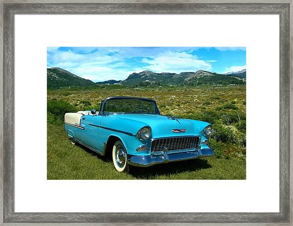 1955 Chevrolet Convertible Framed Print