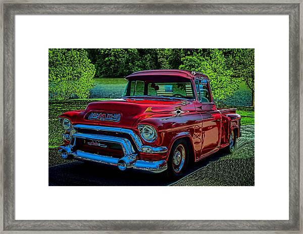 1955 Gmc 100 Pickup Truck Framed Print