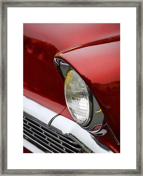1956 Chevrolet Headlamp Framed Print