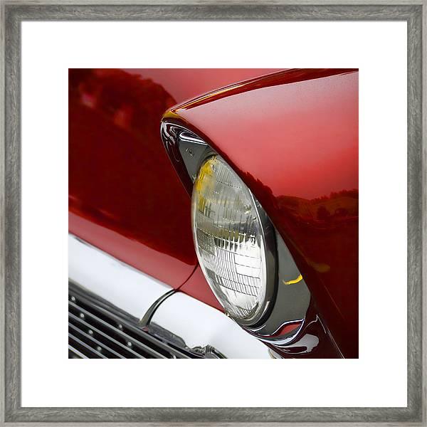 1956 Chevrolet Headlamp Square Framed Print