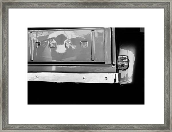 1956 Ford F-100 Truck Taillight Emblem Framed Print