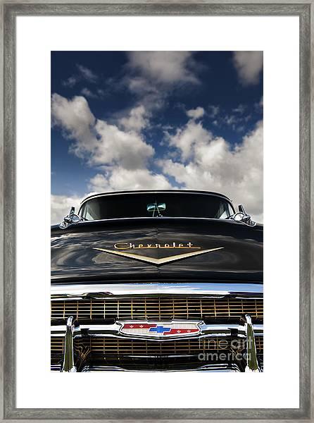 1957 Black Chevrolet Bel Air  Framed Print