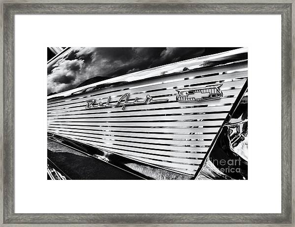 1957 Chevrolet Bel Air Monochrome Framed Print