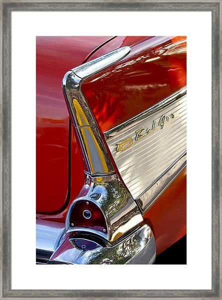 1957 Chevrolet Belair Taillight Framed Print