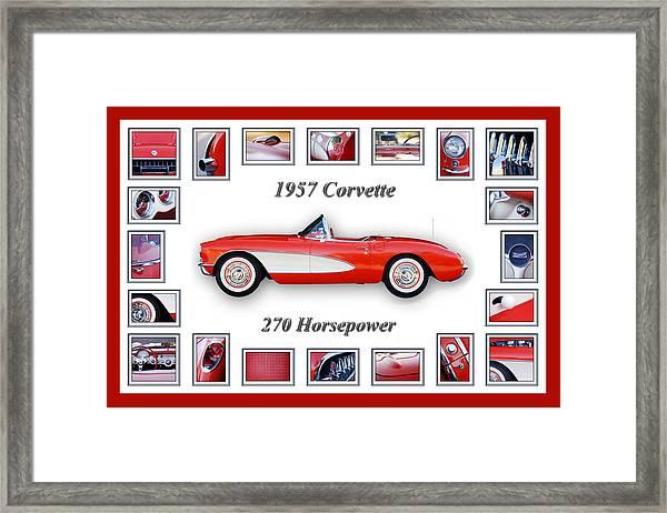 1957 Chevrolet Corvette Art Framed Print