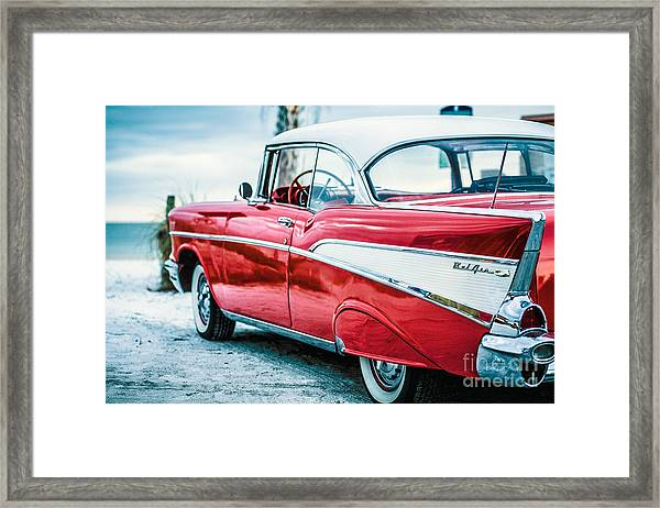 Framed Print featuring the photograph 1957 Chevy Bel Air by Edward Fielding