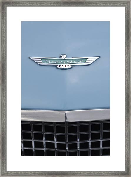 1957 Ford Thunderbird Hood Ornament 2 Framed Print
