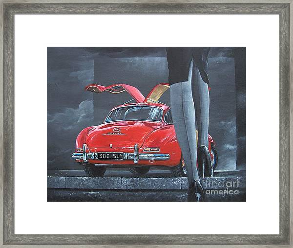 1957 Mercedes Benz 300 Sl Gullwing Coupe Framed Print