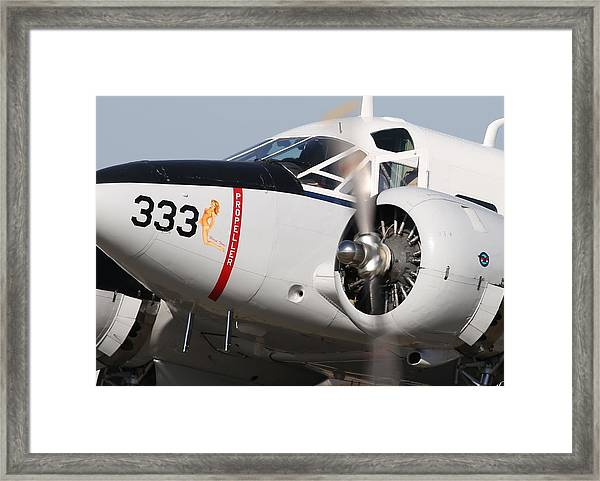 1957 Twin Beech E185 Taxis From The Ramp N5867 Framed Print by John King