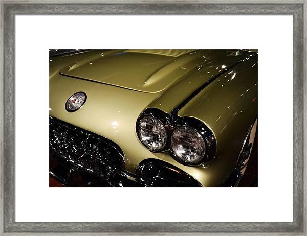1958 Fancy Free Corvette J58s Framed Print