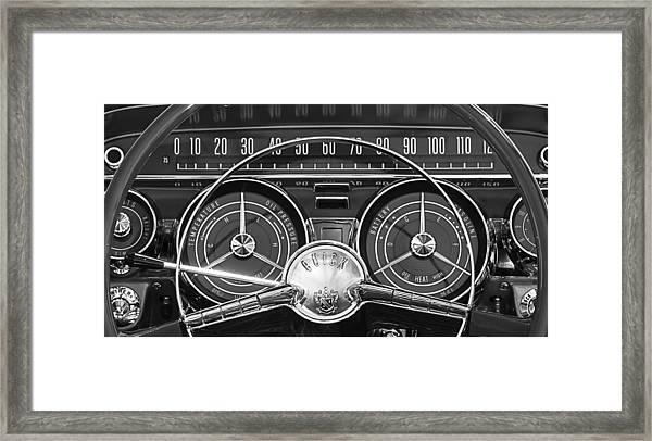 1959 Buick Lasabre Steering Wheel Framed Print